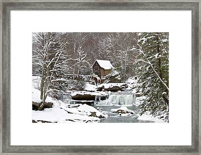 Watermill In A Forest In Winter, Glade Framed Print by Panoramic Images
