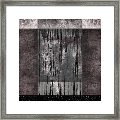 Watershed Abstract Framed Print by Carol Leigh
