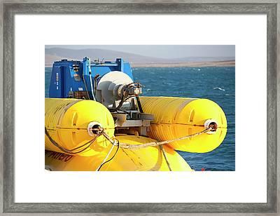 Wave Energy Generator Framed Print by Ashley Cooper