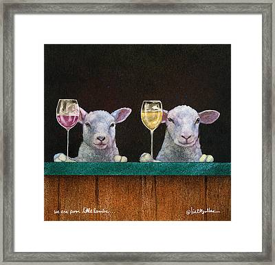 We Are Poor Little Lambs... Framed Print by Will Bullas