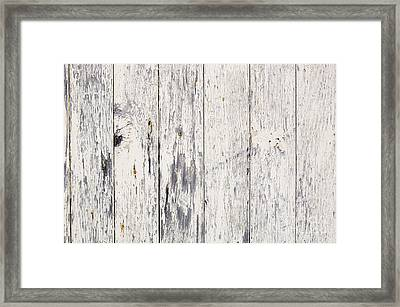 Weathered Paint On Wood Framed Print by Tim Hester