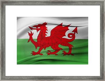 Welsh Flag Framed Print by Les Cunliffe