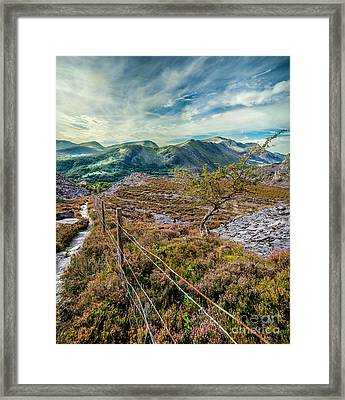 Welsh Mountains Framed Print by Adrian Evans