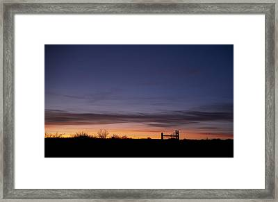West Texas Sunset Framed Print by Melany Sarafis