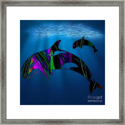 Whales Framed Print by Marvin Blaine