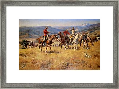 When Law Dulls The Edge Of Chance Framed Print by Charles Russell