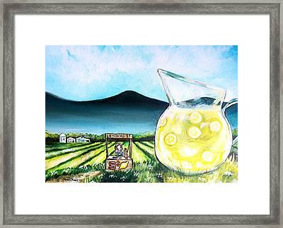 When Life Gives You Lemons Framed Print by Shana Rowe Jackson