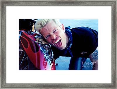 Whiplash Smile Framed Print by Kip Krause