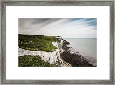 White Cliffs Of Dover Framed Print by Ian Hufton