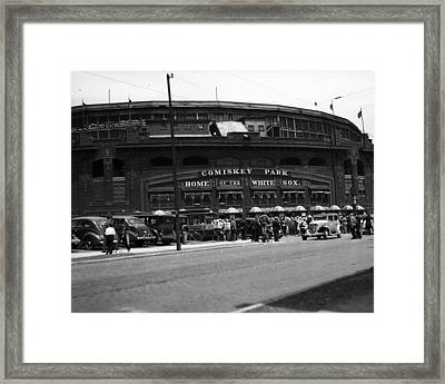 White Sox Home Comiskey Park Framed Print by Retro Images Archive