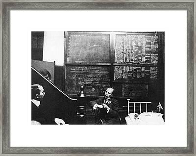 William Osler At Johns Hopkins Framed Print by National Library Of Medicine