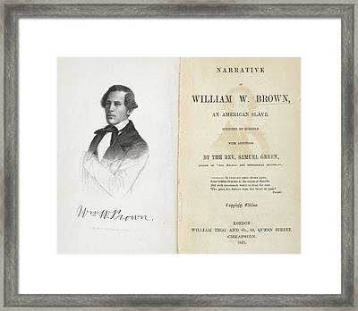 William W. Brown Framed Print by British Library