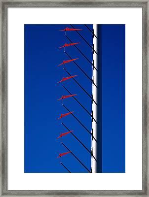 Wind Arrows Framed Print by Rona Black