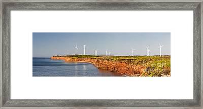 Wind Turbines On Atlantic Coast Framed Print by Elena Elisseeva