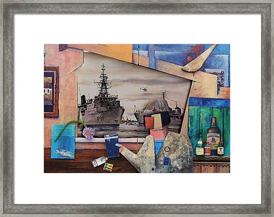 Window On The World Framed Print by Val Byrne