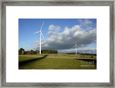 Windturbines Framed Print by Bernard Jaubert