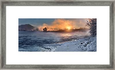Winter Ambience Framed Print by Leland D Howard