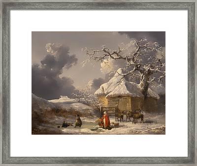 Winter Landscape Framed Print by Mountain Dreams