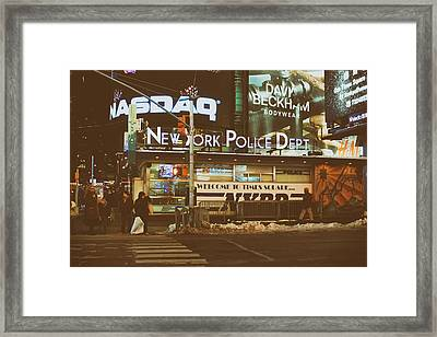 Winter Night In New York City Framed Print by Mountain Dreams