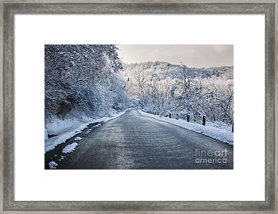 Winter Road Framed Print by Elena Elisseeva