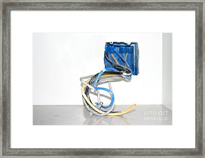 Wire Box Framed Print by Henrik Lehnerer