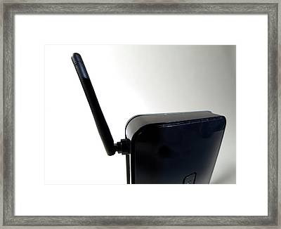 Wireless Router Framed Print by Victor De Schwanberg