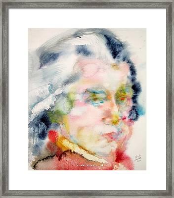 Wolfgang Amadeus Mozart Framed Print by Fabrizio Cassetta
