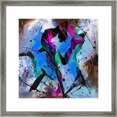 Woman Ice Skater Framed Print by Marvin Blaine