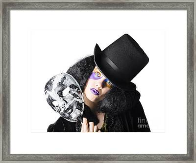 Woman With Mask Framed Print by Jorgo Photography - Wall Art Gallery