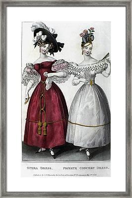 Women's Fashion, 1829 Framed Print by Granger