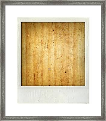 Wood Texture Framed Print by Les Cunliffe