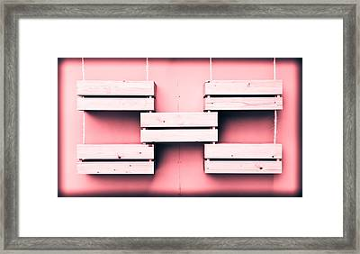 Wooden Crates Framed Print by Tom Gowanlock