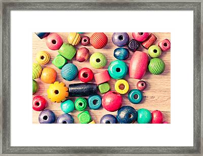 Wooden Peices Framed Print by Tom Gowanlock