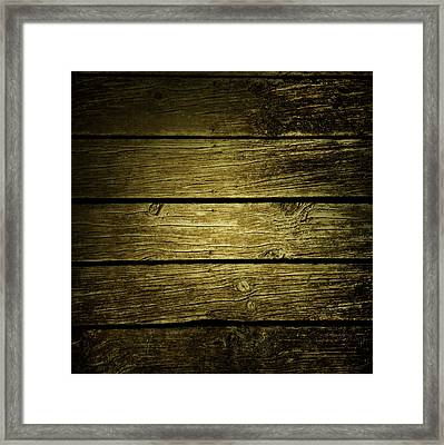 Wooden Planks Framed Print by Les Cunliffe