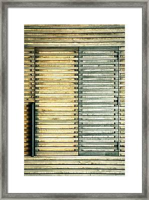Wooden Shutters Framed Print by Tom Gowanlock
