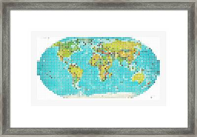 World Map Framed Print by Celestial Images