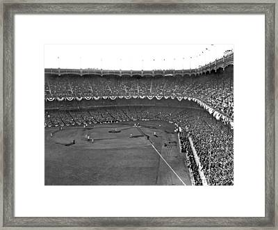 World Series In New York Framed Print by Underwood Archives