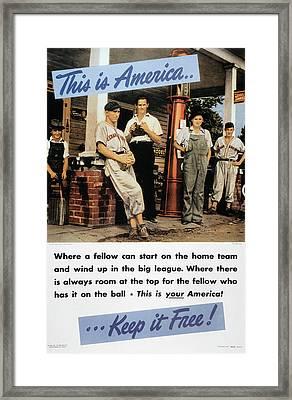 Wwii: Us Poster, 1942 Framed Print by Granger
