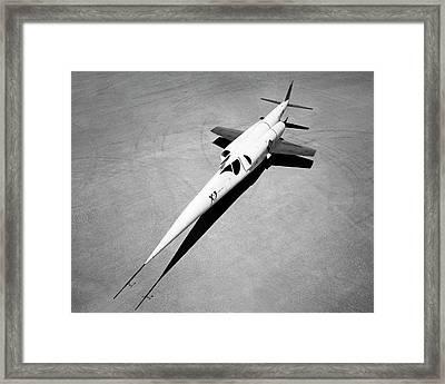 X-3 Stiletto Experimental Aircraft Framed Print by Nasa Photo / Naca/nasa