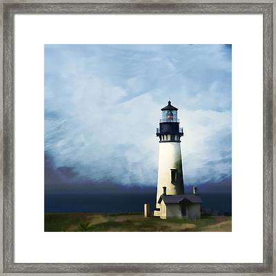 Yaquina Head Light Framed Print by Carol Leigh