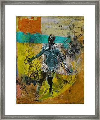 Yaya Toure Framed Print by Corporate Art Task Force