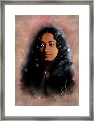 Yogananda Framed Print by Graphicsite Luzern