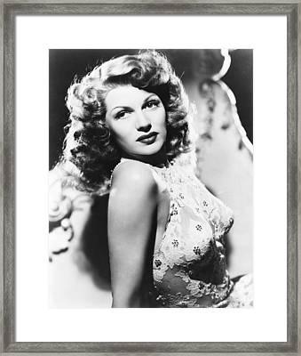 You Were Never Lovelier, Rita Hayworth Framed Print by Everett