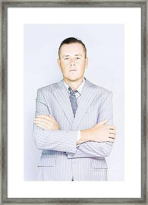 Young Businessman Front View Framed Print by Jorgo Photography - Wall Art Gallery