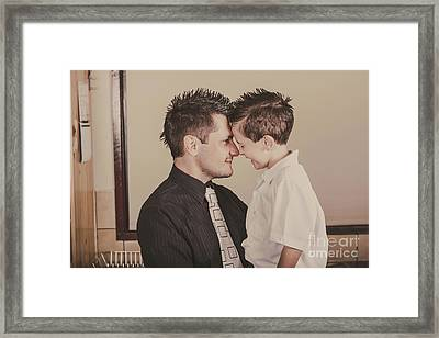 Young Dad And Little Boy Showing Affection Framed Print by Jorgo Photography - Wall Art Gallery