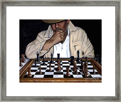 Your Move Framed Print by A Wells Artworks