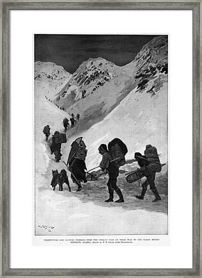 Yukon Gold Rush, 1896 Framed Print by Granger