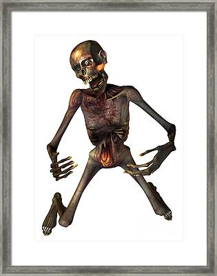 Zombie, Artwork Framed Print by Victor Habbick Visions
