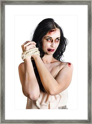 Zombie Tied Up Framed Print by Jorgo Photography - Wall Art Gallery