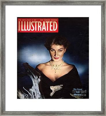 1950s Uk Illustrated Magazine Cover Framed Print by The Advertising Archives
